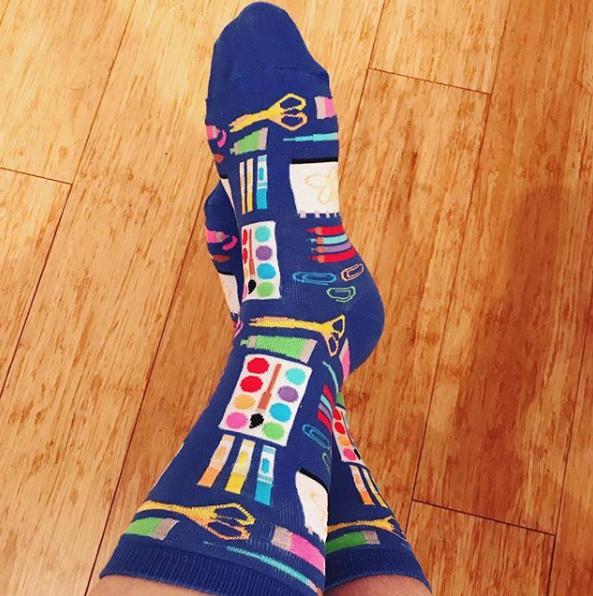 Art Supplies Socks by Hotsox