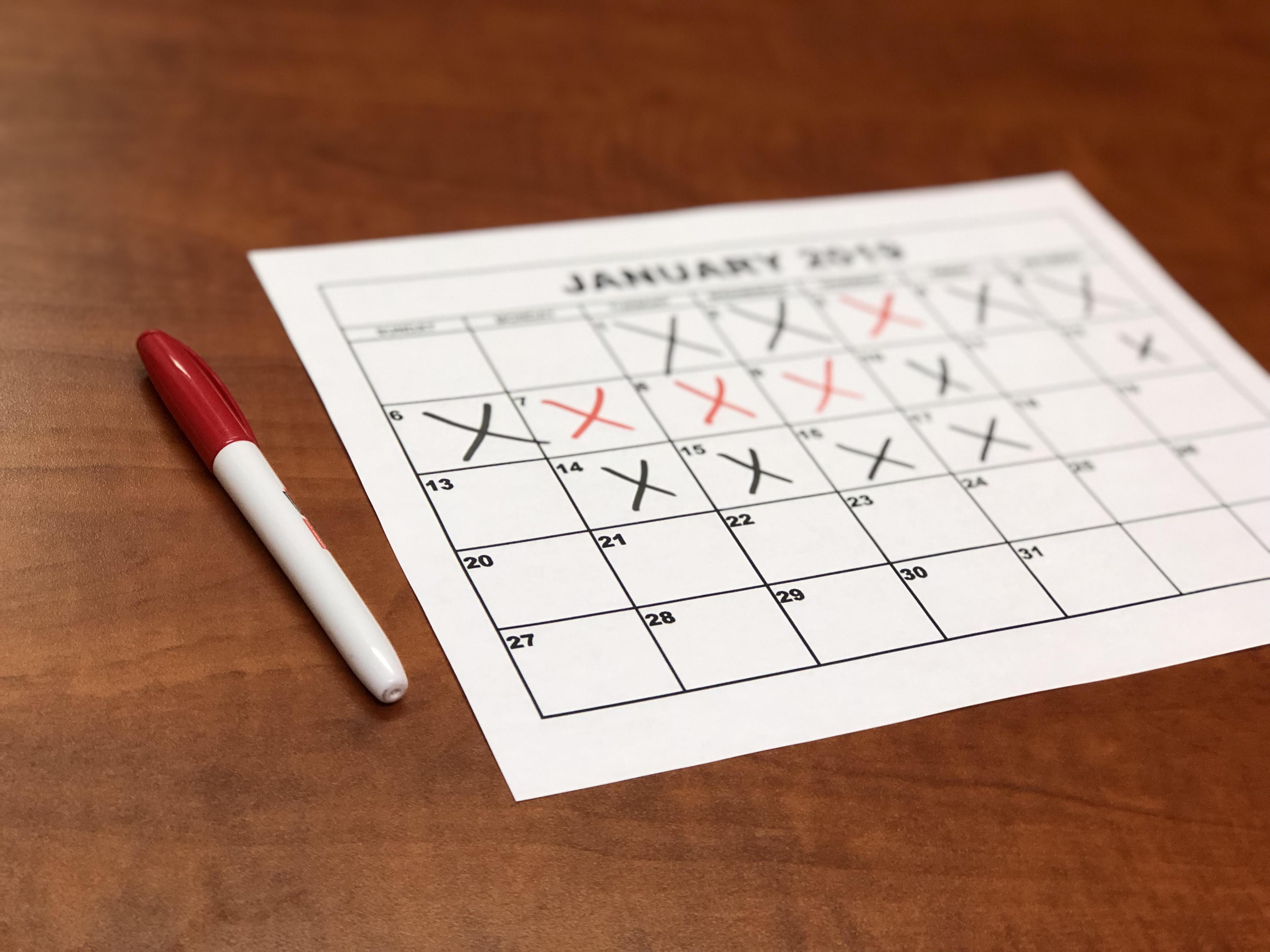 Set Goals on a Calendar