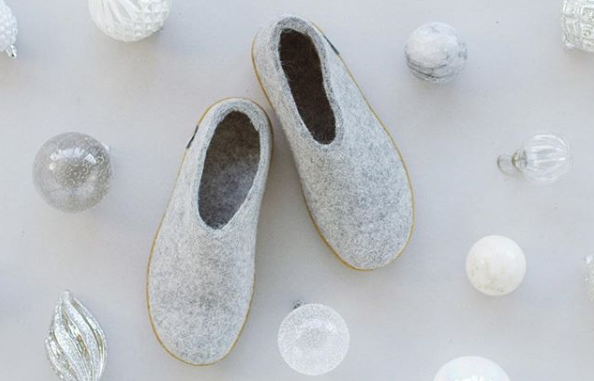 Glerups Rubber Slippers in Grey