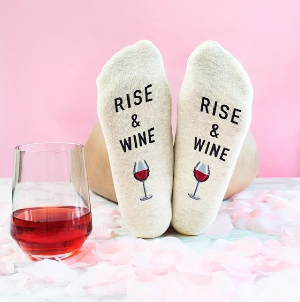 Rise and Wine Socks by Hotsox